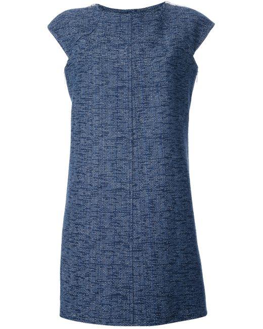 Courreges   Blue Courrèges Cut Out Detail Shift Dress   Lyst