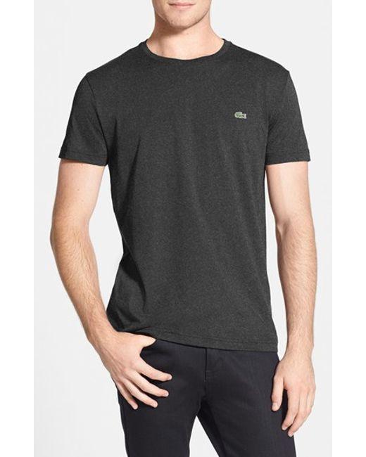 Lacoste   Gray Pima Cotton Crewneck T-shirt for Men   Lyst