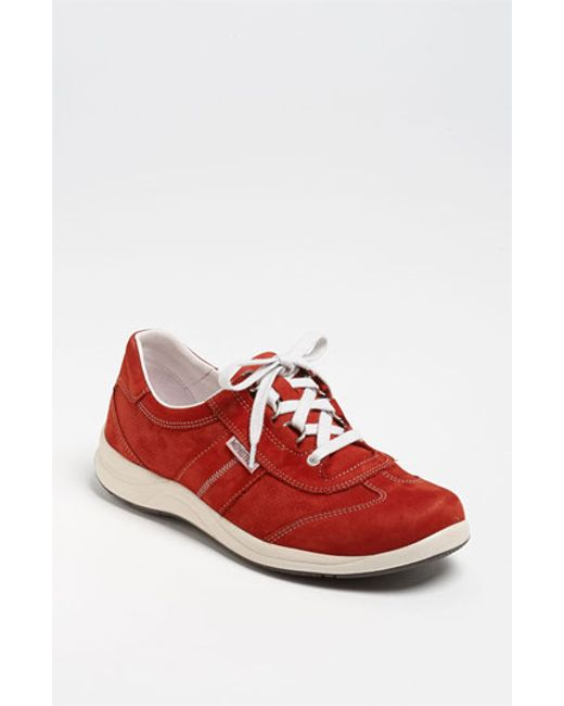 Mephisto | Red Laser Perforated Walking Shoe | Lyst