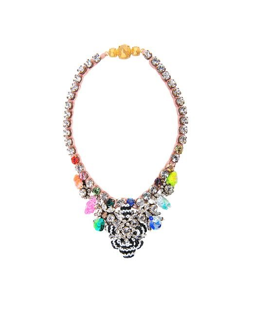 Shourouk | Multicolor Theresa Sequined Mini Necklace | Lyst