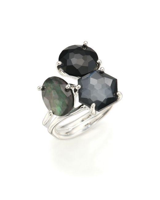 Ippolita | Metallic Rock Candy Black Tie Semi-precious Multi-stone & Sterling Silver Cluster Ring | Lyst