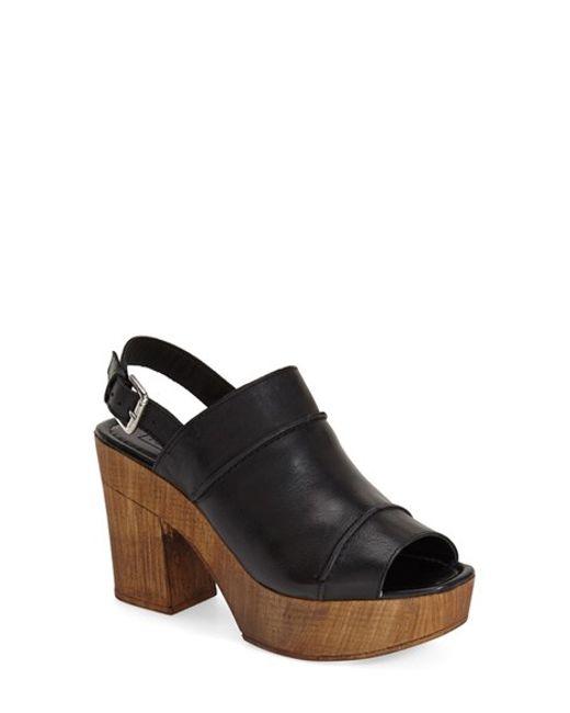TOPSHOP | Brown Lori Leather Slingback Sandal | Lyst