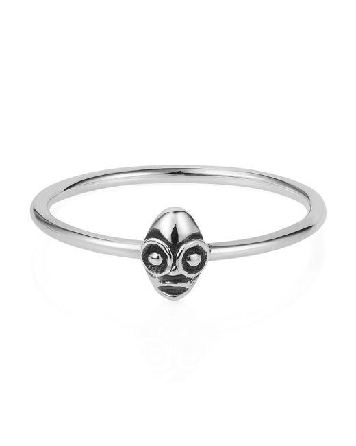 Lee Renee | Metallic Tiny Voodoo Ghede Ring Silver | Lyst
