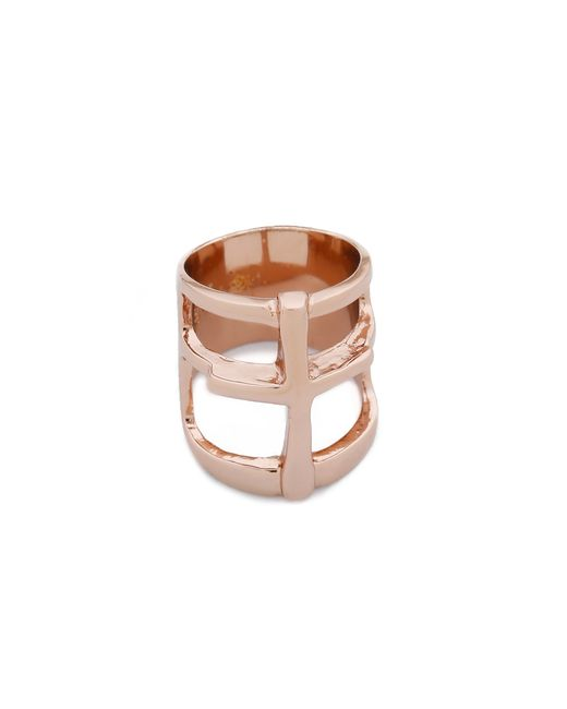 Pamela Love | Pink Cross Ring | Lyst