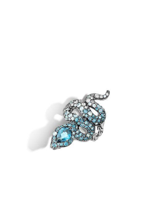 John Hardy   Metallic Cobra Ring With London Blue Topaz And Diamonds   Lyst