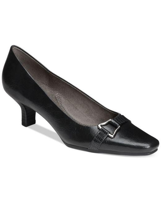 Aerosoles | Black Dimocracy Kitten Heel Pumps | Lyst