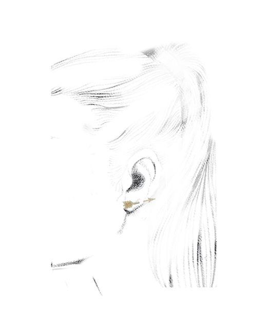 Anita Ko   Metallic Single Arrow 18-KT Gold Earrings   Lyst