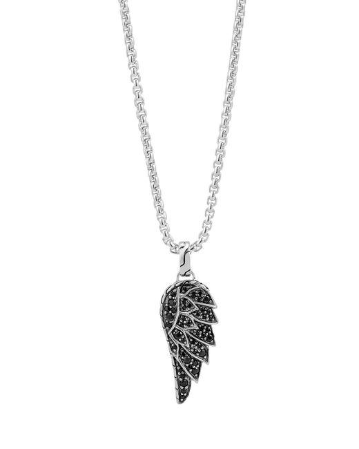 John Hardy   Metallic Men's Classic Chain Black Sapphire Eagle Wing Pendant Necklace for Men   Lyst