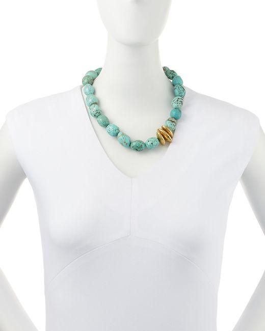 Ashley Pittman | Blue Yai Turquoise Necklace | Lyst