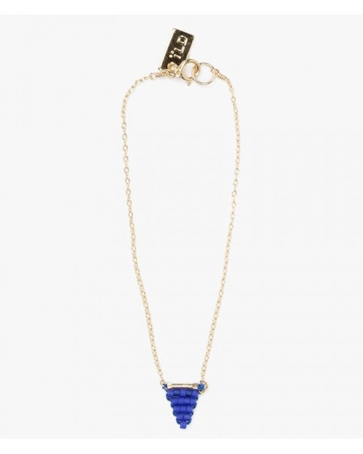 Iwona Ludyga | Blue Beaded Flag On Chain Bracelet | Lyst