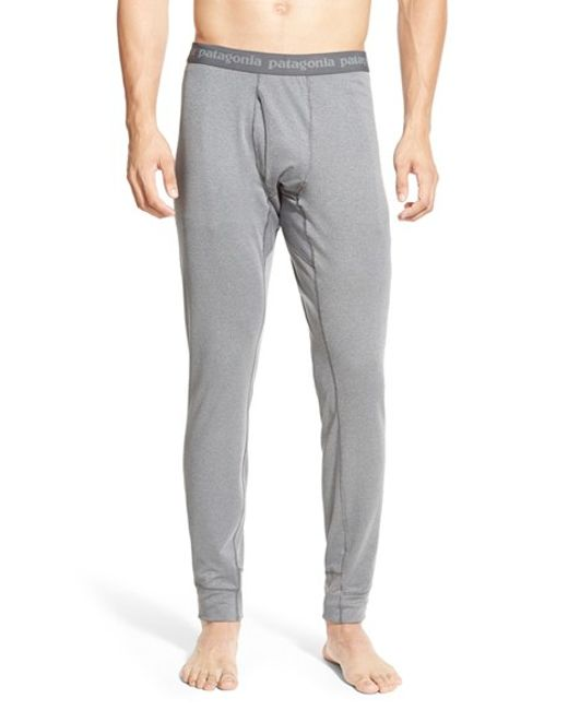 Patagonia | Gray 'capilene 3' Midweight Base Layer Pants for Men | Lyst