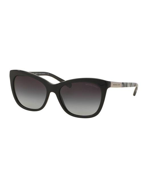 Michael kors Two-tone Square Cat-eye Sunglasses in Black ...
