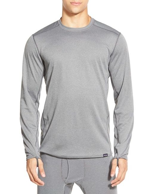 Patagonia | Gray 'capilene Midweight' Base Layer Long Sleeve Shirt for Men | Lyst