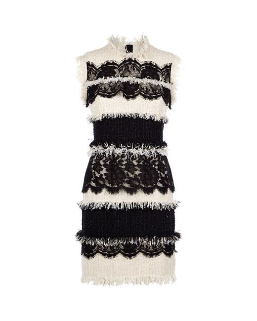 Lanvin   Black Bow Detail Printed Dress   Lyst