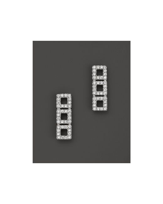 Dana Rebecca | 14k White Gold Allison Joy Square Earrings With White Diamonds | Lyst