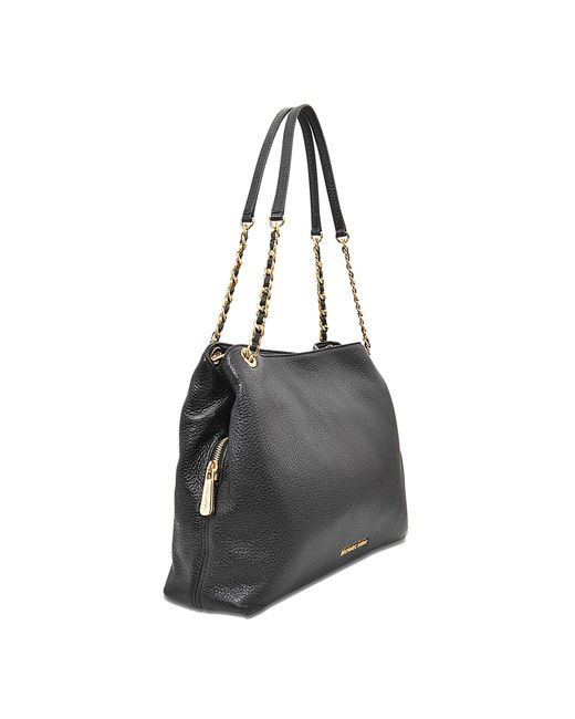 michael michael kors jet set chain item lg chain shoulder bag in black. Black Bedroom Furniture Sets. Home Design Ideas