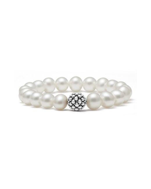 Lagos | White Bead Stretch Bracelet | Lyst