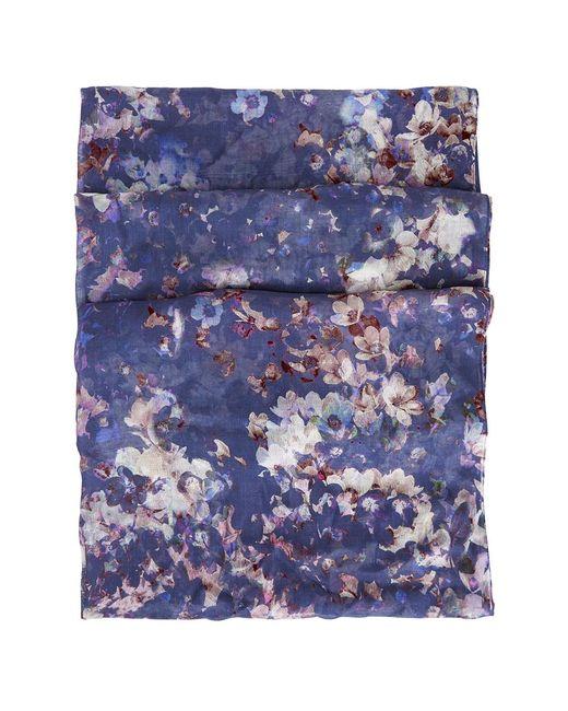Hobbs | Blue Tabitha Floral Scarf | Lyst