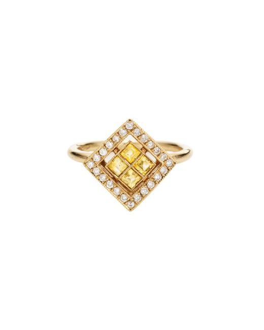Sabine G   Metallic Harlequin Yellow Sapphire Ring   Lyst