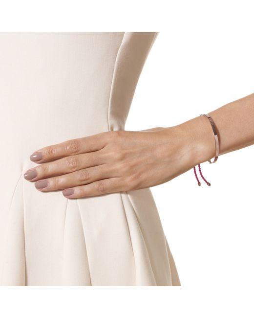 Monica Vinader | Red Fiji Friendship Bracelet | Lyst