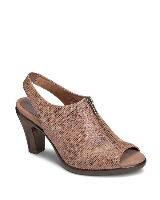 Aerosoles | Brown Dalmatian Fabric Slingback Stilettos | Lyst