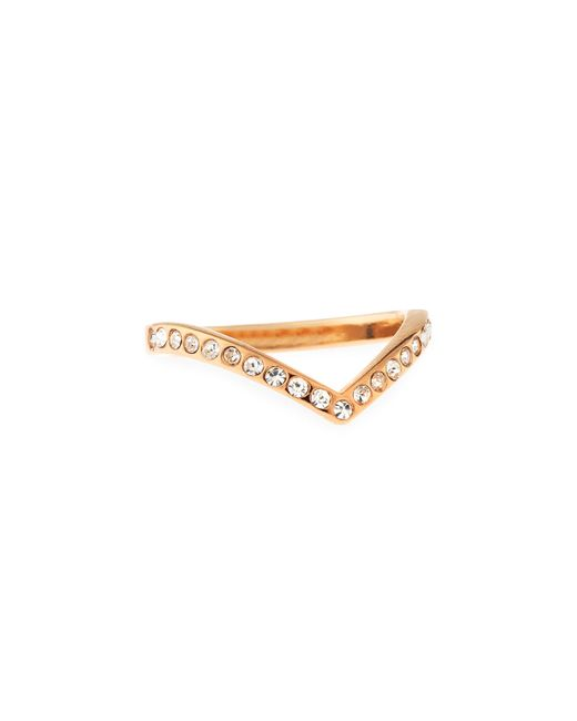 Vita Fede | Metallic Ultra Mini V Crystal Ring | Lyst