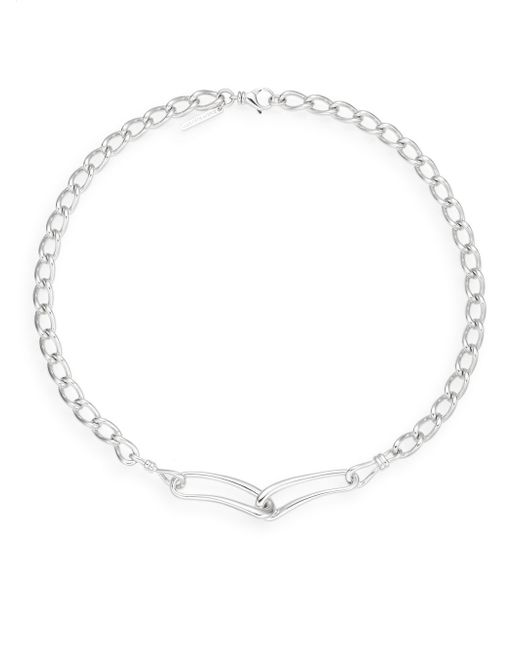 Saks Fifth Avenue | Metallic Sterling Silver Mixed Link Necklace | Lyst