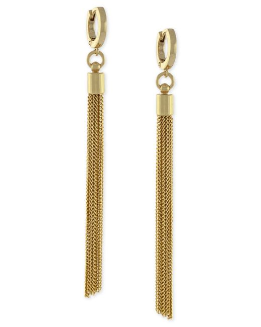 Vince Camuto | Metallic 'haute Tassels' Tassel Hoop Earrings | Lyst