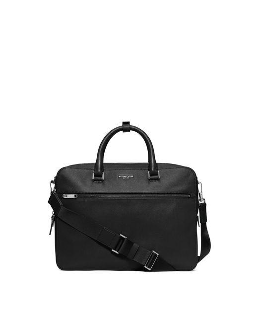 Michael Kors | Black Harrison Medium Leather Briefcase for Men | Lyst