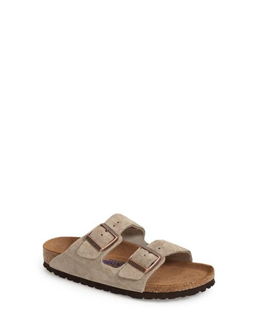 Birkenstock | Natural 'arizona' Soft Footbed Suede Sandal | Lyst