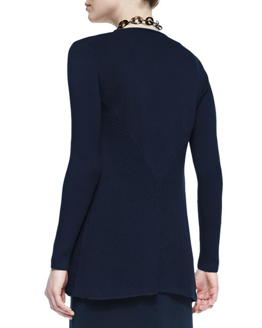 Eileen Fisher | Blue Silk Cotton Interlock Jacket | Lyst
