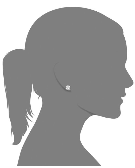 Arabella | White Swarovski Zirconia Round Stud Earrings (4-1/4 Ct. T.w.) | Lyst