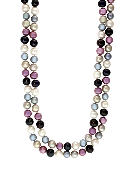 Effy | Purple Multi-color Pearl Necklace | Lyst