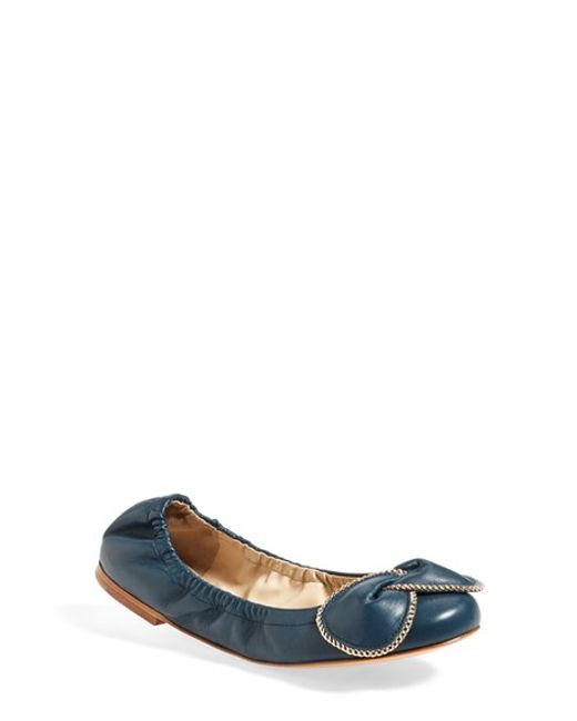 See By Chloé | Blue 'Ciara' Ballet Flat | Lyst