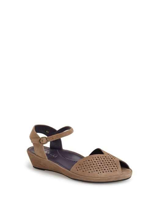Vaneli | Brown 'Darlene' Wedge Sandal | Lyst