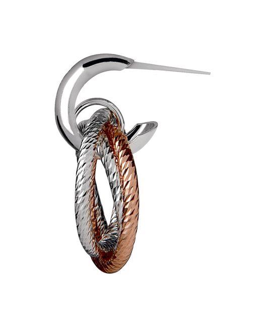 Links of London | Metallic Aurora Cluster Bi-metal Hoop Earrings | Lyst