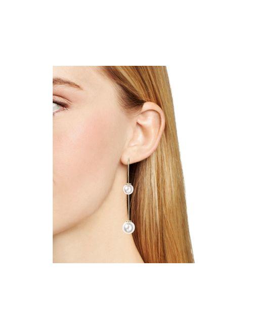 Aqua | Metallic Olivia Threader Earrings | Lyst
