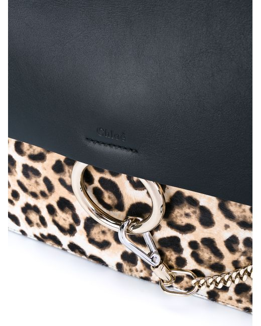 chloe knock off bags - chloe faye leopard print and leather handbag, knockoff chloe bag
