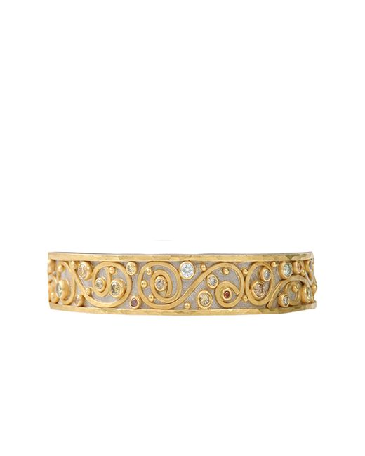 Annie Fensterstock | Metallic Winter Bangle Bracelet | Lyst