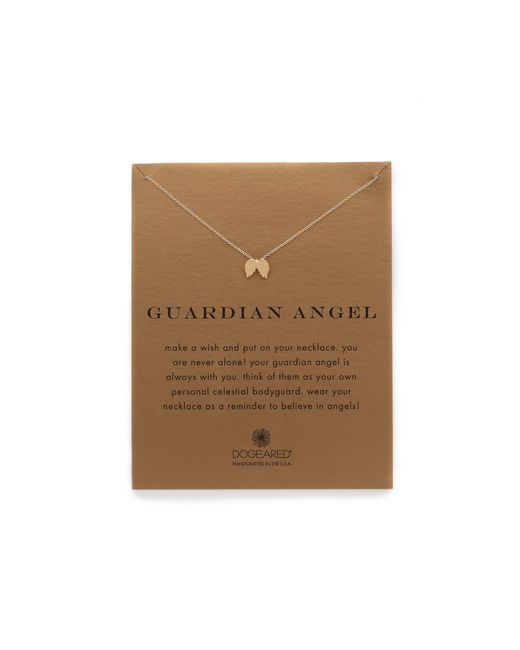 Dogeared | Metallic Guardian Angel Charm Necklace | Lyst