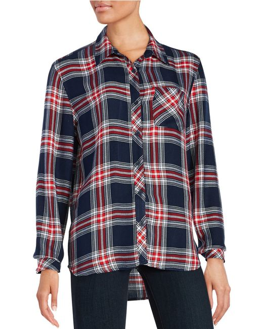 Beach Lunch Lounge | Blue Plaid Button-front Top | Lyst