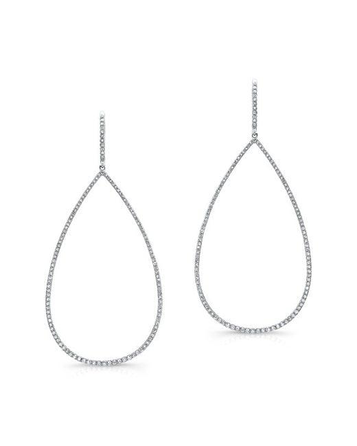 Anne Sisteron | Multicolor 14kt White Gold Diamond Large Open Pear Earrings | Lyst