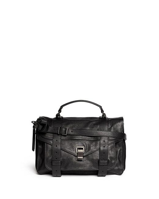 Proenza Schouler   Black Leather Ps1 Medium Convertible Satchel   Lyst