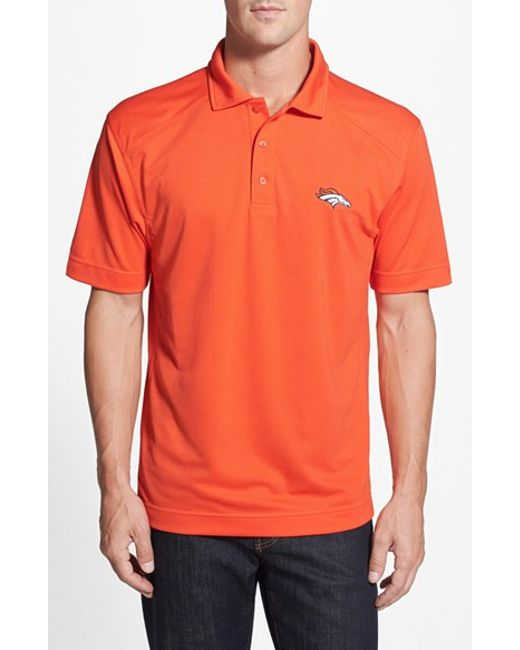 Cutter & Buck | Orange 'denver Broncos - Genre' Drytec Moisture Wicking Polo for Men | Lyst