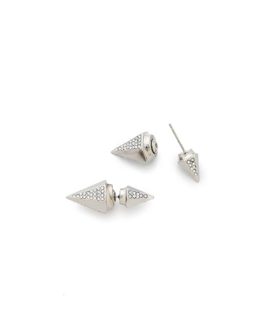 Vita Fede | Metallic Titan Double Hexagon Crystal Earrings | Lyst