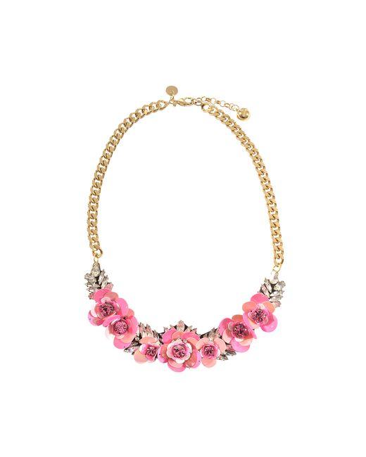 Shourouk | Pink Rosa Necklace | Lyst
