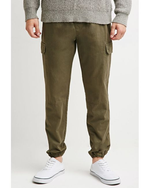 Forever 21 | Green Twill Cargo Joggers for Men | Lyst