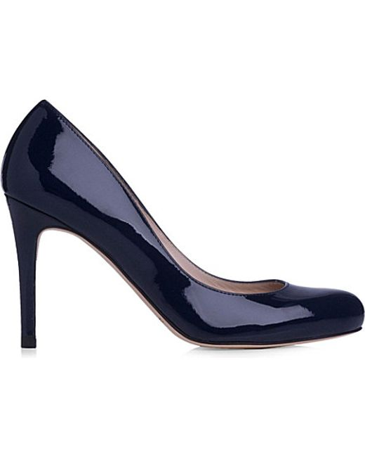 L.K.Bennett | Blue Stila Patent-leather Courts | Lyst