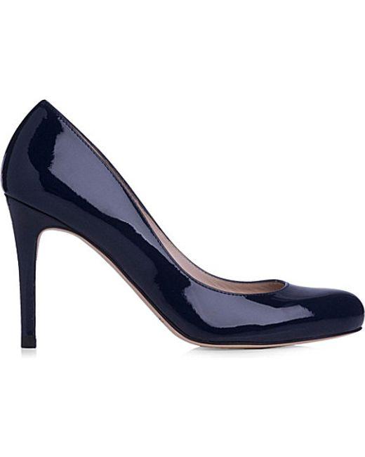 L.K.Bennett | Blue Stila Patent-leather Courts | Lyst