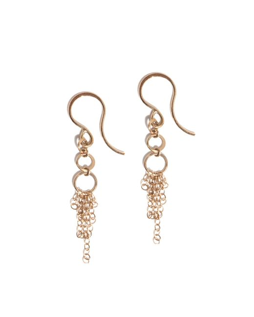 Melissa Joy Manning | Metallic Three Ring Tassel Earrings | Lyst